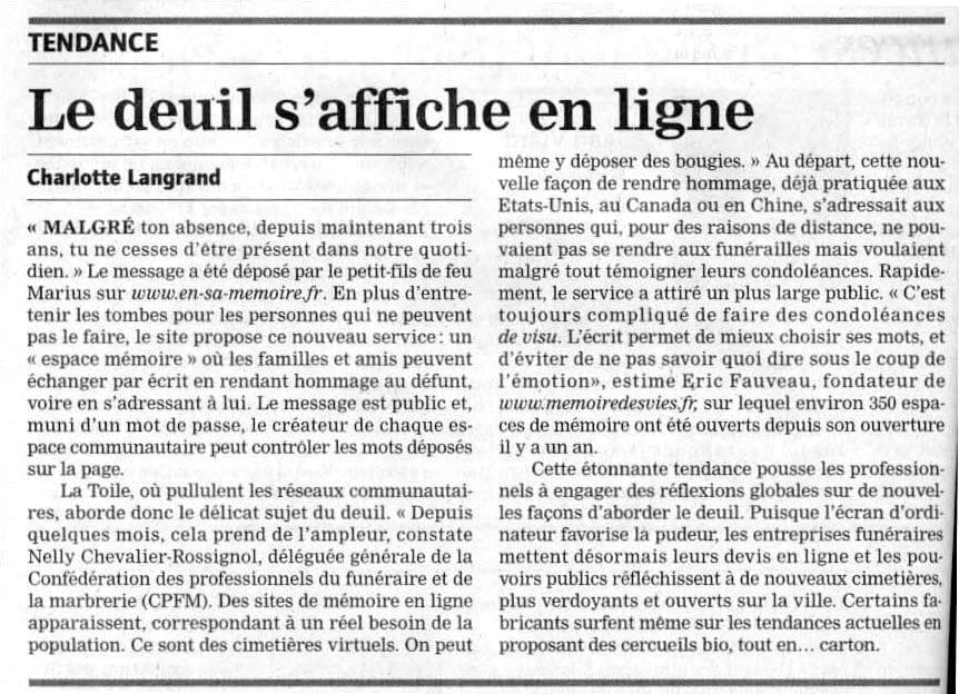 Journal du Dimanche 31 octobre 2010