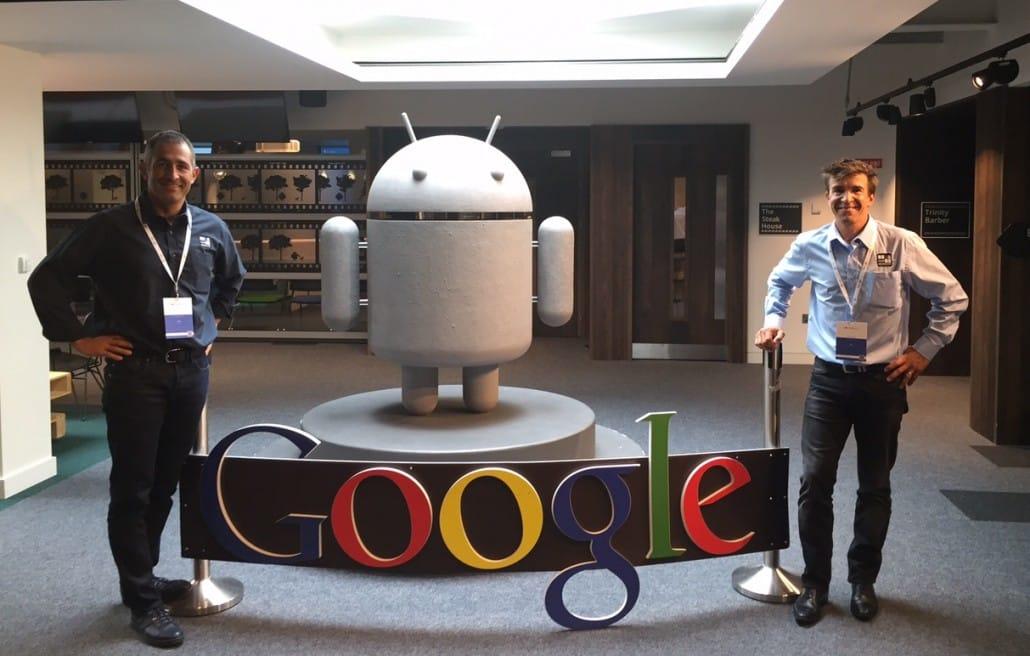 Yann LEPAGE & Flavien JOURDAIN, Co-fondateurs d'En Sa Mémoire au siège Europe de Google